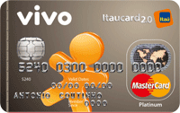 Logo Banco Itaú Cartão Vivo Itaucard 2.0 Pré Mastercard Platinum Internacional