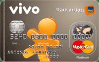Logo Banco Itaú VIVO Itaucard 2.0 Pré Mastercard Platinum