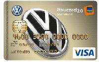 Logo Banco Itaú Cartão Volkswagen Itaucard 2.0 Visa Internacional