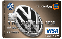 Logo Banco Itaú Cartão Volkswagen Itaucard 2.0 Visa Platinum Internacional