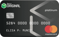 Logo Banco Original Cartão Banco Original Mastercard Platinum Internacional