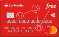 Logo Banco Santander Cartão Santander Free Mastercard Internacional