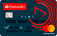 Logo Banco Santander Cartão Santander Play Mastercard Internacional