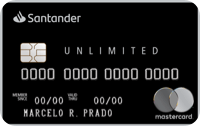 Logo Banco Santander Cartão Santander Unlimited Black