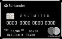 Logo Banco Santander Cartão Santander Unlimited Mastercard Black Internacional