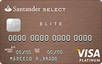 Logo Banco Santander Cartão Select Elite Visa Platinum