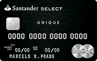 Logo Banco Santander Cartão Select Unique Mastercard Black