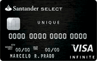 Logo Banco Santander Cartão Select Unique Visa Black