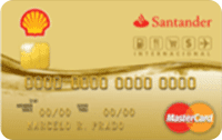 Logo Banco Santander Cartão Santander Shell Mastercard Internacional