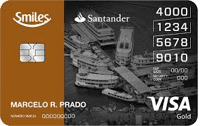 Logo Banco Santander Cartão Santander Smiles Gold Visa Internacional