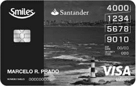 Logo Banco Santander Cartão Santander Smiles Infinite Visa Internacional