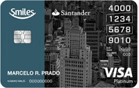 Logo Banco Santander Cartão Santander Smiles Platinum Visa Internacional