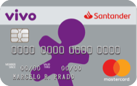 Logo Banco Santander Cartão Santander Vivo Mastercard Internacional