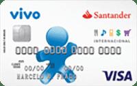 Logo Banco Santander Cartão Santander Vivo Visa Internacional
