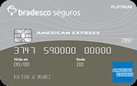Logo Bradesco Cartão de Crédito Bradesco Seguros Platinum American Express