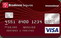 Logo Bradesco Cartão Bradesco Seguros Visa Internacional