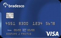 Logo Bradesco Cartão Bradesco Internacional Visa
