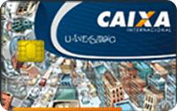 Logo Caixa Econômica Federal Cartão Caixa Universitário Visa Internacional