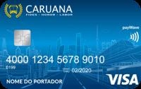 Logo Caruana Cartão Caruana Visa Internacional