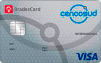Logo Cencosud Cartão Cencosud Bradescard Visa Internacional