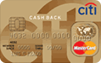 Logo Citibank Citi Cash Back Gold Mastercard