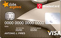 Logo Clube Angeloni Cartão Clube Angeloni Bradescard Visa Internacional