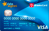 Logo Clube Angeloni Cartão Clube Angeloni Bradescard Visa Nacional
