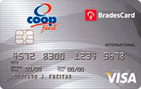 Logo Cooperativa de Consumo Coop BradesCard Coop Visa Internacional