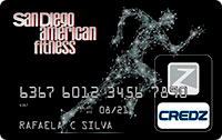 Logo Credz Cartão San Diego American Fitness Credz