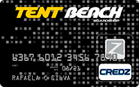 Logo Credz Cartão Tent Beach
