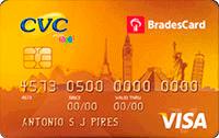 Logo CVC Cartão CVC Bradescard Visa Gold Internacional
