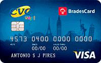 Logo CVC Cartão CVC Bradescard Visa Internacional
