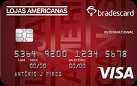 Logo Lojas Americanas Cartão Lojas Americanas Bradescard Visa Internacional