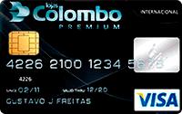 Logo Lojas Colombo Cartão Lojas Colombo Bradescard Visa Internacional