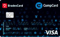 Logo Lojas Comper e CompreFort BradesCard CompCard Nacional Visa
