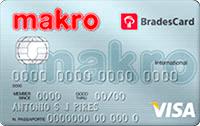 Logo Makro BradesCard Makro Visa Internacional