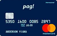 Logo Pag! Cartão Digital Pag! Mastercard Internacional