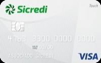 Logo Sicredi Cartão Sicredi Touch Visa Internacional