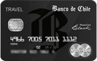 Logo Banco de Chile MasterCard Black
