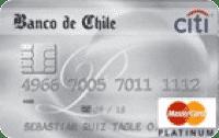 Logo Banco de Chile Banco de Chile Travel Mastercard Platinum