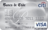 Logo Banco de Chile Travel Club Visa Platinum