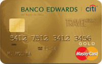 Logo Banco Edwards Edwards Travel Mastercard Dorada