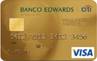 Logo Banco Edwards Travel Club Visa Dorada