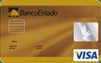 Logo Banco Estado Tarjeta de Crédito Visa Dorada