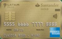 Logo Banco Santander Gold LATAM Pass American Express