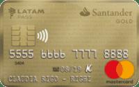 Logo Banco Santander Gold LATAM Pass MasterCard