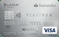 Logo Banco Santander Santander Platinum LATAM Pass Visa