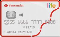 Logo Banco Santander Tarjeta de Crédito Santander Life