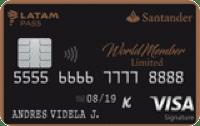 Logo Banco Santander Santander WorldMember Limited LATAM Pass Visa Infinite