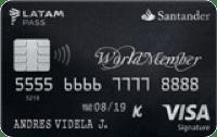 Logo Banco Santander WorldMember LATAM Pass Visa Signature